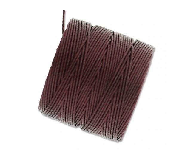 S-Lon Regular Tex 210 Bead Cord (0.5mm), Purple Brown, 77 Yard Spool