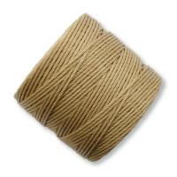 S-Lon Regular Tex 210 Bead Cord (0.5mm), Bronze Brown, 77 Yard Spool
