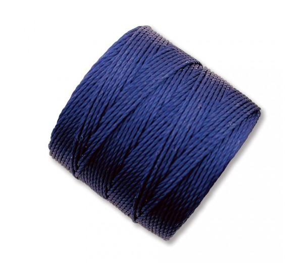 S-Lon Regular Tex 210 Bead Cord (0.5mm), Deep Blue, 77 Yard Spool