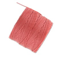 S-Lon Regular Tex 210 Bead Cord (0.5mm), Coral, 77 Yard Spool