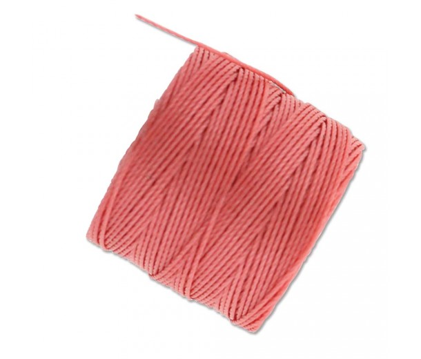 S-Lon Regular Tex 210 Bead Cord (0.5mm), Coral, 77 Yard Spool