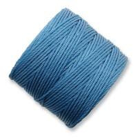 S-Lon Regular Tex 210 Bead Cord (0.5mm), Carolina Blue, 77 Yard Spool