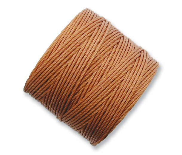 S-Lon Regular Tex 210 Bead Cord (0.5mm), Copper Brown, 77 Yard Spool