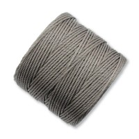 S-Lon Regular Tex 210 Bead Cord (0.5mm), Cocoa Grey, 77 Yard Spool