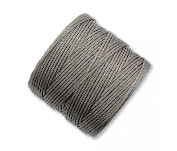 S-Lon Regular Tex 210 Bead Cord (0.5mm), Cocoa Grey, 77 Yard Spool