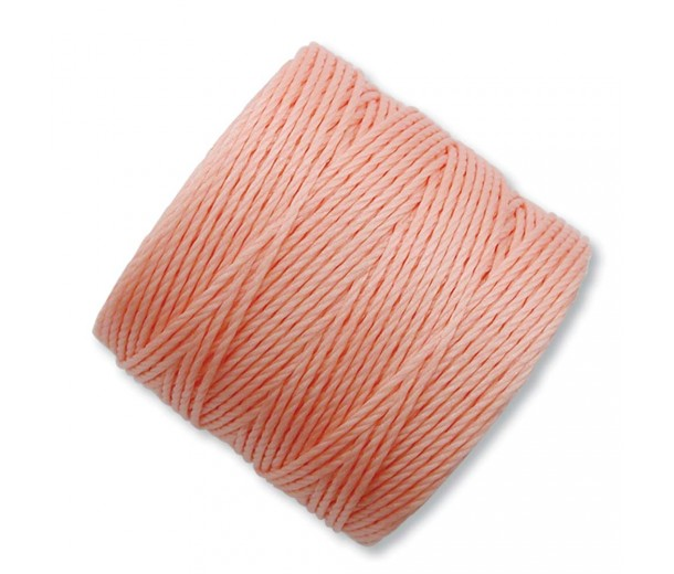 S-Lon Regular Tex 210 Bead Cord (0.5mm), Coral Pink, 77 Yard Spool