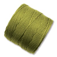 S-Lon Regular Tex 210 Bead Cord (0.5mm), Light Olive Green, 77 Yard Spool