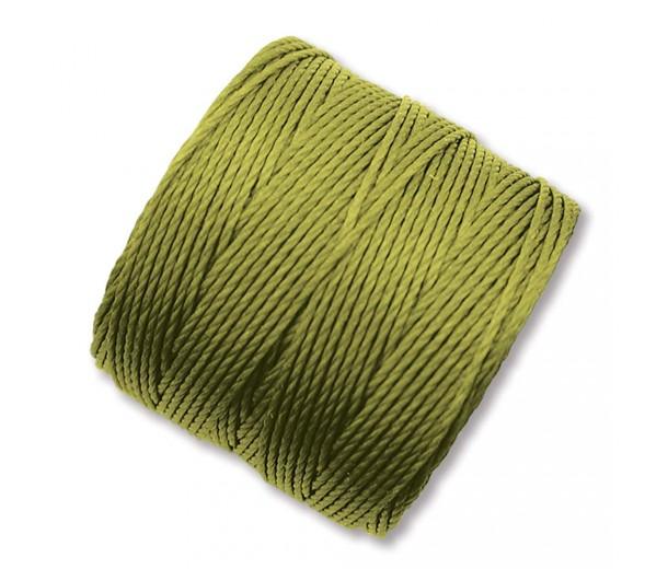 S-Lon Regular Tex 210 Bead Cord (0.5mm), Light Olive Green, 77 Yard Spool