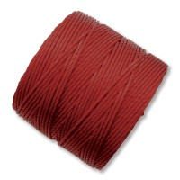 S-Lon Regular Tex 210 Bead Cord (0.5mm), Dark Red, 77 Yard Spool