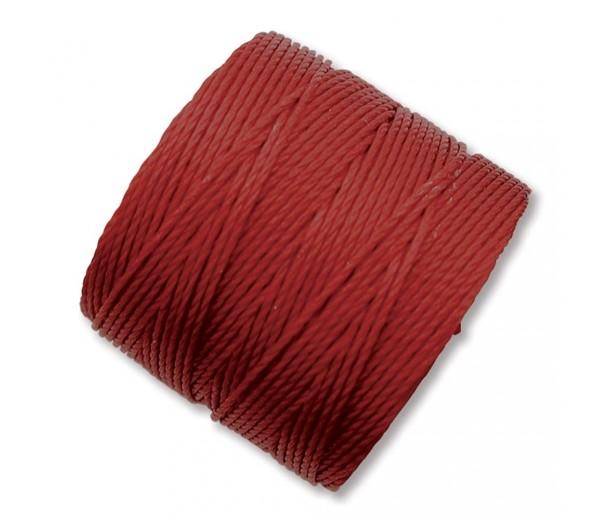S-Lon Regular Tex 210 Bead Cord (0.5mm), Dark Red, 77 Yard Spool