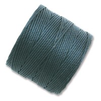 S-Lon Regular Tex 210 Bead Cord (0.5mm), Dark Teal, 77 Yard Spool