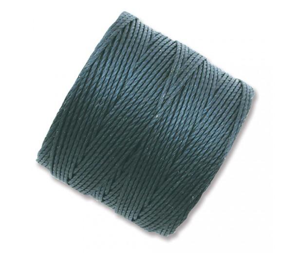 S-Lon Regular Tex 210 Bead Cord (0.5mm), Dark Teal, 77 Yard Spool