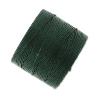 S-Lon Regular Tex 210 Bead Cord (0.5mm), Evergreen, 77 Yard Spool