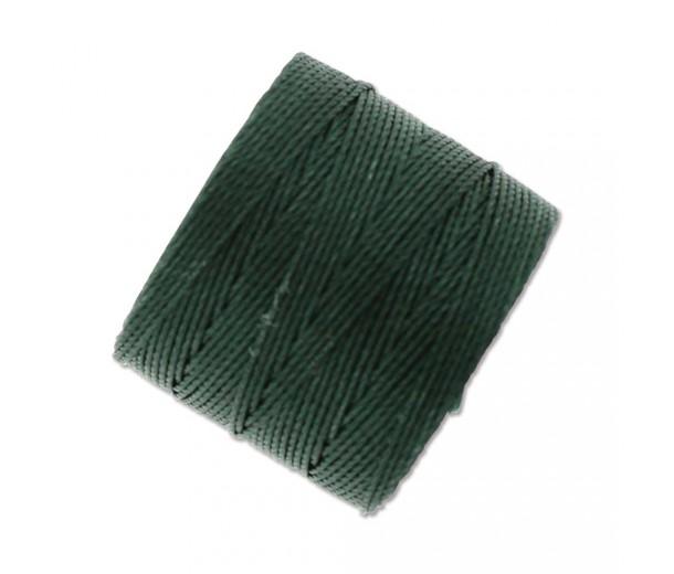 S-Lon Regular Tex 210 Bead Cord (0.5mm), Evergreen, 77 Yard Spool