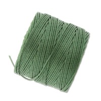 S-Lon Regular Tex 210 Bead Cord (0.5mm), Fern Green, 77 Yard Spool