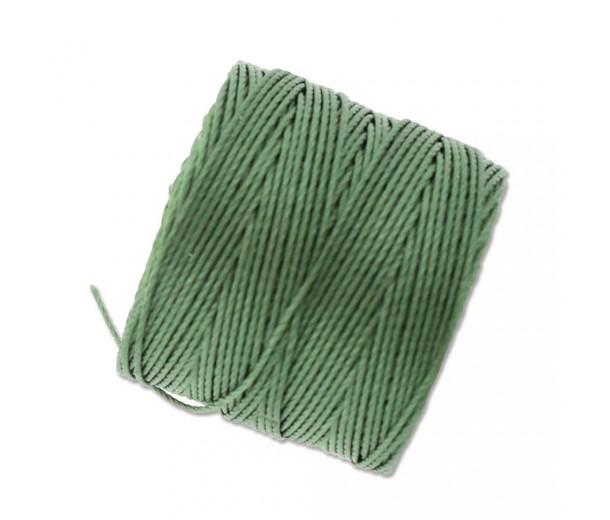 S-Lon Regular Tex 210 Bead Cord (0.5mm), Fern Green, 77 Yard Spool