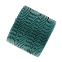 S-Lon Regular Tex 210 Bead Cord (0.5mm), Blue Green, 77 Yard Spool