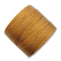 S-Lon Regular Tex 210 Bead Cord (0.5mm), Old Gold, 77 Yard Spool