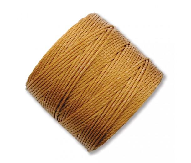 S-Lon Regular Tex 210 Bead Cord (0.5mm), Old Gold, 77 Yard Spool