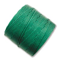 S-Lon Regular Tex 210 Bead Cord (0.5mm), Green, 77 Yard Spool