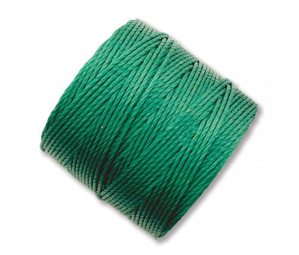 S-Lon Regular Tex 210 Bead Cord (0.5mm), Green, 77 Yard Spool