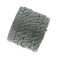 S-Lon Regular Tex 210 Bead Cord (0.5mm), Gunmetal Grey, 77 Yard Spool