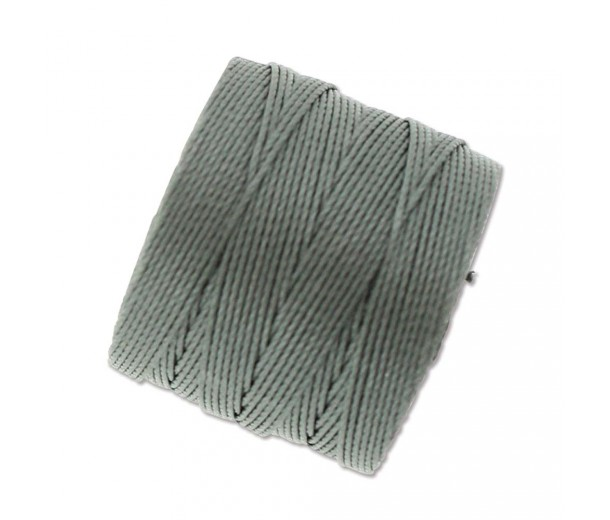 S-Lon Regular Tex 210 Bead Cord (0.5mm), Gunmetal Grey, 77 Yard Spool