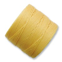 S-Lon Regular Tex 210 Bead Cord (0.5mm), Butter Yellow, 77 Yard Spool