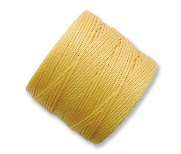 S-Lon Regular Tex 210 Bead Cord (0.5mm), Butter Yellow, 77 Yard Spool