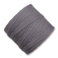 S-Lon Regular Tex 210 Bead Cord (0.5mm), Grey, 77 Yard Spool