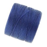 S-Lon Regular Tex 210 Bead Cord (0.5mm), Hyacinth Blue, 77 Yard Spool