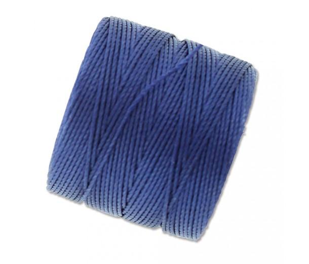 S-Lon Regular Tex 210 Bead Cord (0.5mm), Hyacinth Blue, 77 Yard Spool