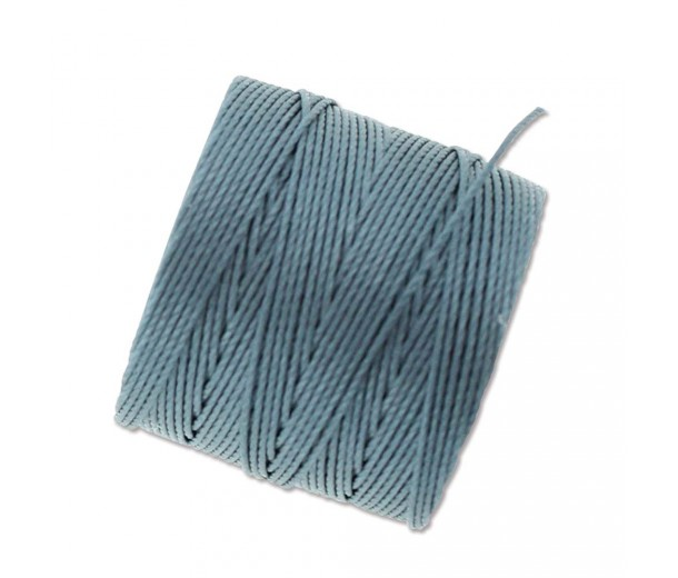 S-Lon Regular Tex 210 Bead Cord (0.5mm), Ice Blue, 77 Yard Spool