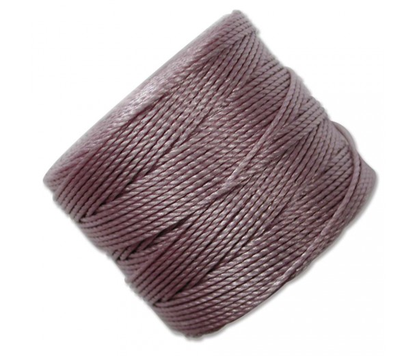 S-Lon Regular Tex 210 Bead Cord (0.5mm), Dark Lavender, 77 Yard Spool