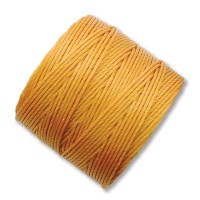 S-Lon Regular Tex 210 Bead Cord (0.5mm), Light Golden Yellow, 77 Yard Spool