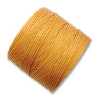 S-Lon Regular Tex 210 Bead Cord (0.5mm), Light Golden Yellow, 77 Yard Spool