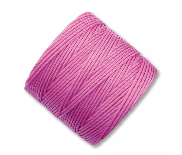 S-Lon Regular Tex 210 Bead Cord (0.5mm), Light Orchid Pink, 77 Yard Spool