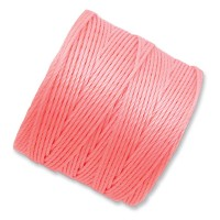 S-Lon Regular Tex 210 Bead Cord (0.5mm), Light Coral, 77 Yard Spool