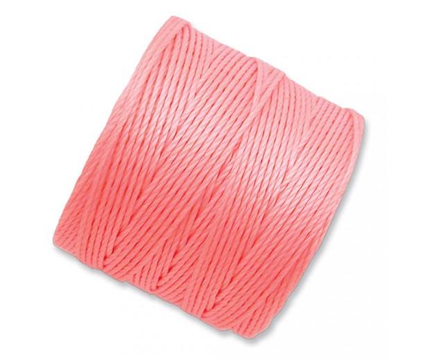 S-Lon Regular Tex 210 Bead Cord (0.5mm), Light Coral, 77 Yard Spool
