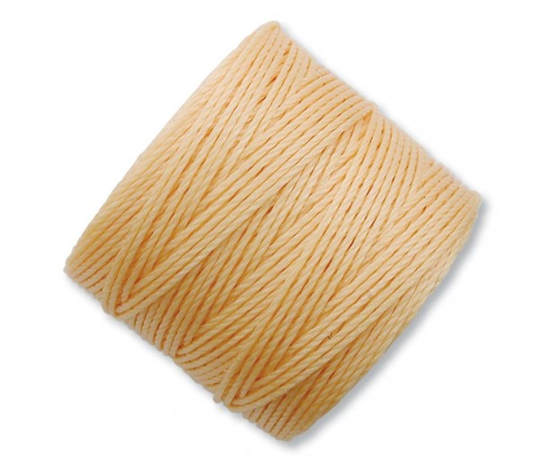 S-Lon Regular Tex 210 Bead Cord (0.5mm), Light Peach, 77 Yard Spool