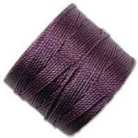 S-Lon Regular Tex 210 Bead Cord (0.5mm), Medium Purple, 77 Yard Spool