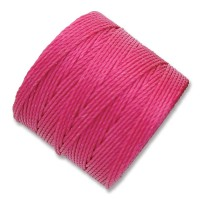 S-Lon Regular Tex 210 Bead Cord (0.5mm), Magenta, 77 Yard Spool