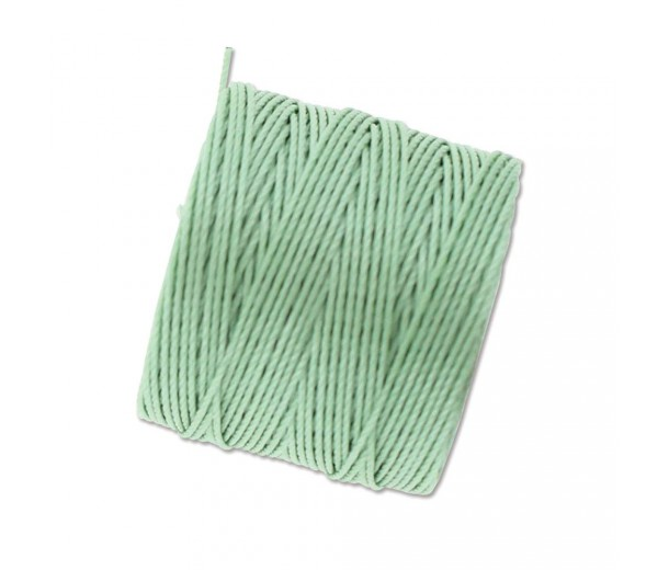 S-Lon Regular Tex 210 Bead Cord (0.5mm), Mint Green, 77 Yard Spool
