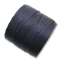S-Lon Regular Tex 210 Bead Cord (0.5mm), Navy Blue, 77 Yard Spool