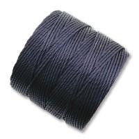 S-Lon Regular Tex 210 Bead Cord (0.5mm), Navy Blue, 77 Yard Spool