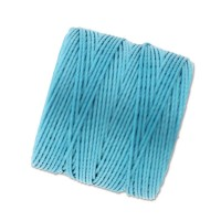 S-Lon Regular Tex 210 Bead Cord (0.5mm), Nile Blue, 77 Yard Spool