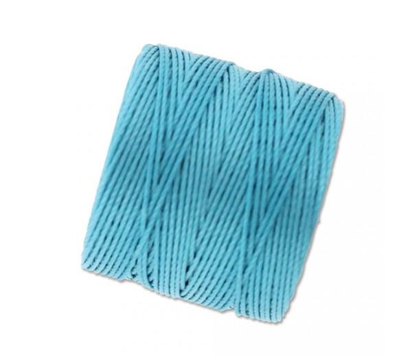 S-Lon Regular Tex 210 Bead Cord (0.5mm), Nile Blue, 77 Yard Spool