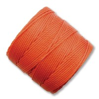 S-Lon Regular Tex 210 Bead Cord (0.5mm), Bright Orange, 77 Yard Spool