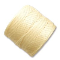 S-Lon Regular Tex 210 Bead Cord (0.5mm), Pale Yellow, 77 Yard Spool