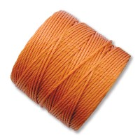 S-Lon Regular Tex 210 Bead Cord (0.5mm), Rust Orange, 77 Yard Spool